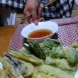 昨日の夕餉 夏野菜と韮の天ぷら