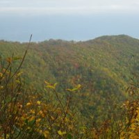 色づく斑尾山