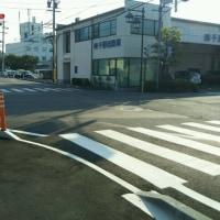 県道石渡・南堀の交差点改良が完成