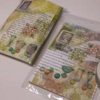 紙モノイタリア便+手作りコラージュ小袋