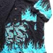パリつれづれなるまま に買い付け-1482/SARI YOGA chemise dragon bleu&rouge HAND MADE IN BALI