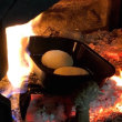 薪ストーブでいろいろ焼いたり、今日のご質問にお答えして。
