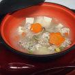 今日は、鯵の干物を焼きました。そして ハンバーグの種で、肉団子のスープです。