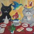 ギャラリー来舎さんでの 神無月の猫たち