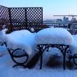 今年もまるで雪国!我が家のルーフバルコニー・・・  布製、帯締め入れ・帯締めケース「優舞美」