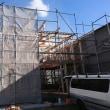 小松島の家、屋根下地完成