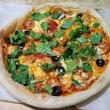 チョリソーとパクチーのピザ