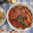 今日のホッピー  ベーコンと白菜のトマトスープ