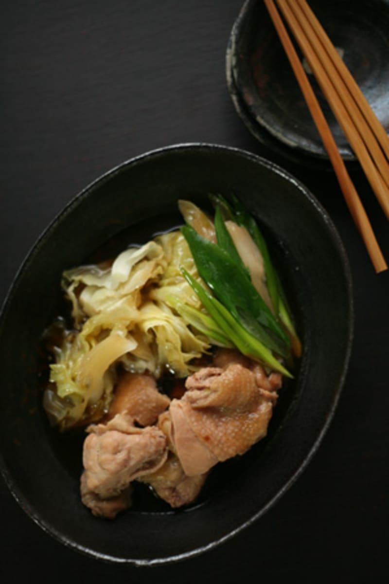 鶏肉とキャベツの煮物