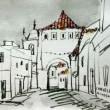 1456.コルテーリャの町角