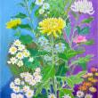 菊の花を描く