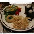 ピンチョスの試作で蝦と細切りポテト
