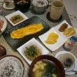 十六穀米とミネラル味噌汁で朝ご飯(光のシャワー♪)