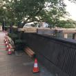 恒例、川床の準備が始まりました。7月26日から。