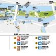 中之島公園   剣先の噴水は30分間隔だ。夜は如何だろうか?