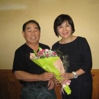 NHK 武内アナ から10周年に花束を頂きました!