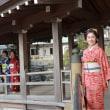 早春の鎌倉、着物でプロフィール写真撮影会