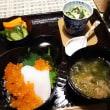 函館の恵みで一汁三菜♪  いくらの紅白丼
