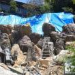 1トンの巨岩で擁壁造成 《可睡斎》