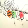 狼のお面を被って植物に擬態する虫の絵を描いた話