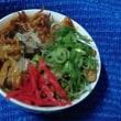 豚肉と蒲鉾の豆板醤炒めに中華スープ掛けて晩御飯したんだね:D