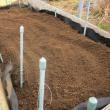 ネギの土寄せ土を確保しました。