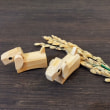 戌年の竹製の箸置き