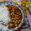 チキンのピカタとひよこ豆カレー