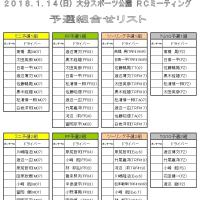 1/14(日) ORM予選組合せ
