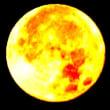 篠窪(しのくぼ)の隣町 秦野市で光り輝く巨大なスーパームーンを見ました