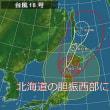 台風18号、北海道に再上陸