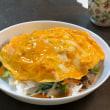 卵乗せ野菜炒め丼