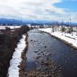 雪が融けて田んぼの土が見えてくるのも、もうそれほど先ではない・・・上市町