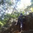さっちゃんと二人で日和田でちょっとだけ岩登りのトレーニングをしました