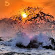 『岩礁』 波かぶり