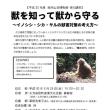 夜の講座「獣を知って獣から守る~イノシシ・シカ・サルの獣害対策の考え方~」のご案内