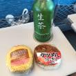 新幹線車内でお昼、水1本130円を購入