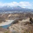 厳冬の信濃路・・・佐久平を歩く・・・千曲川左岸・・・小諸大橋あたり