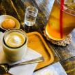 カフェでまったり、至福のプリン。