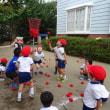 運動会の練習:玉入れ