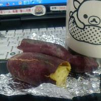 ●朝食に焼きいも・・(@ ゜▽゜@)