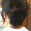 髪の簡単アップと秋ネイル