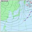 12月14日 アメダスと天気図。