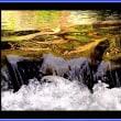 絵模様の滝