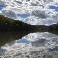 秋の西岡水源地