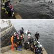 山下公園 海底清掃大作戦