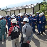 松川町消防団水防訓練 2012
