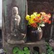 路傍の石仏とポンポコニャ