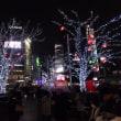 渋谷駅前、ハチ公前広場にて