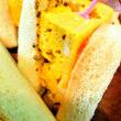 [小樽]娘の今日のお弁当・厚焼き卵サンド弁当です。
